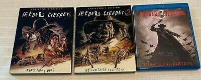 $150 • Buy Jeepers Creepers Horror Blu Ray Trilogy Scream Factory OOP With Rare Slipcovers