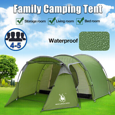 AU99.74 • Buy Outdoor 4-5 Person Family Camping Tent Hiking Camping Dome Tunnel Waterproof **