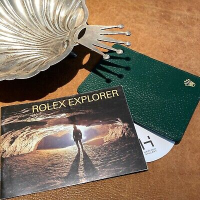 $ CDN98 • Buy 2007 Genuine Rolex Explorer Booklet + Rolex Green Leather Holder 16570, 114270