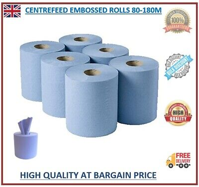 Centre Feed Rolls 6/12/24/48 2ply Embossed Kitchen Paper Towel Bigger Blue Rolls • 45.99£