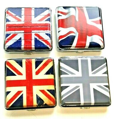 UNION JACK  King Size Cigarette Case Holds 20  4 Designs Available  • 5.25£