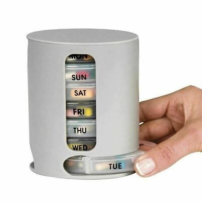 Weekly Daily Pill Box Organizer Medicine Tablet Storage Dispenser 7 Day Week • 5.75£