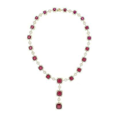 $12500 • Buy Diamond And Ruby Necklace 14KT Gold