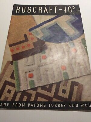 Vintage Rug Craft Payons Crochet Book  Sewing Paperback • 3.95£