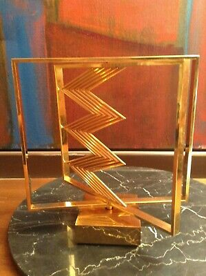 $5000 • Buy Rare Vintage Yaacov Agam Sculpture Gold Geometric Kinetic #24/245