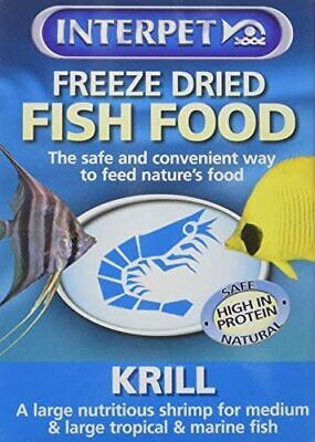 NEW Freeze Dried Fish Food Krill 5g Freeze Dried Krill Are A Large Nourishing V • 4£