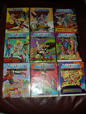 $35 • Buy Masters Of The Universe MOTU He-Man Mini Comic Lot Of 9 Acceptable To Good