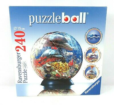 $28 • Buy Ravensburger Dolphins Ocean World Puzzleball 240 Pieces, 3D Round- New In Box