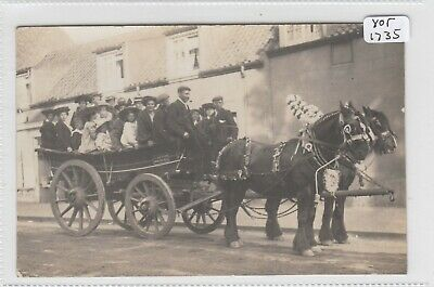 WITHERNWICK / WHITEDALE ?Yorkshire Botham's  Shire Horses And Cart - Outing - RP • 19.99£