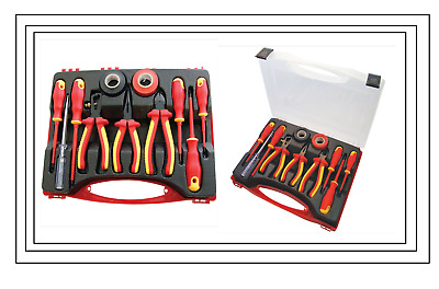 11pc Electrical Electricians Tool Kit Insulated Screwdriver Tester Pliers Tape • 15.99£
