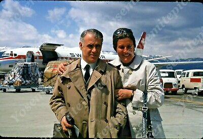 $7.99 • Buy Sl00 Original Slide 1970 ZURICH AIRPORT SWISSAIR AIRPLANE COUPLE 121A