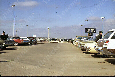 $7.99 • Buy Sl00 Original Slide 1970's Omaha Airport Parking Lot Cars 538a