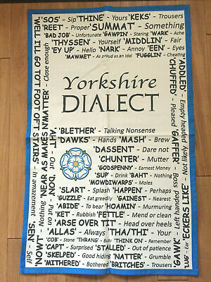 The Yorkshire Dialect Tea Towel New Made In The UK 100% Cotton  • 6.99£