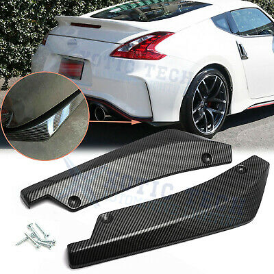 $27.61 • Buy For Nissan 370Z Altima Rear Bumper Splitter Diffuser Canard Carbon Fiber Pattern