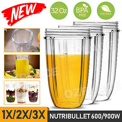 AU21.95 • Buy 3x NUTRIBULLET COLOSSAL CUP 32oz BIG LARGE TALL Nutri Bullet Blender Model