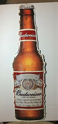 $ CDN52.83 • Buy Budweiser 1918 Style Bottle Embossed Die Cut Metal Sign New Old Stock