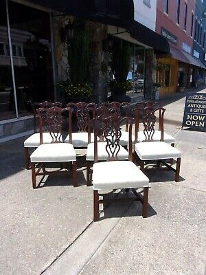 $1760 • Buy  Set Of Eight Dining Room Chairs By Century The British Collection 20thc