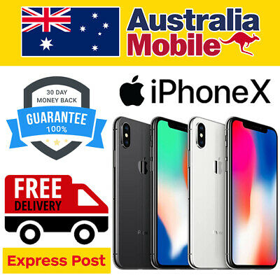 AU429 • Buy Apple IPhone X 10 256GB Silver Space Grey(Black) LTE 4G Unlocked Smartphone