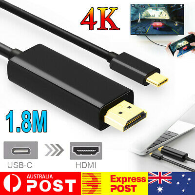 AU13.92 • Buy USB C To HDMI Cable USB Type C To HDMI 4K Cord For Samsung S8 S9 S10 S20 Note 9