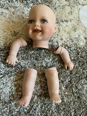 $ CDN17.53 • Buy Porcelain Baby Doll Parts  Baby Arms Legs Head Dan & Ea, Inc Toddler Size