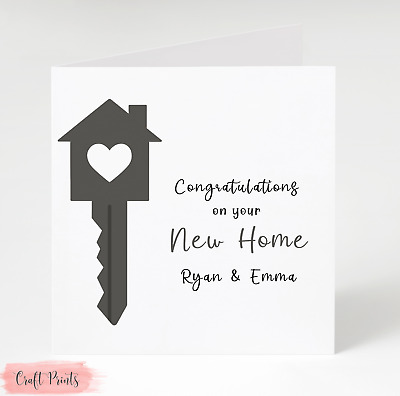 Personalised New Home Card New House • 3£