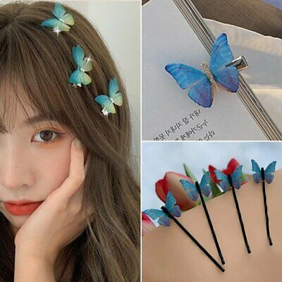 $0.99 • Buy Fashion Blue Butterfly Hair Clip Hairband Bobby Pin Barrette Hairpin Headdress