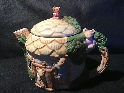 Collector's Mouse Cottage Teapot • 5£