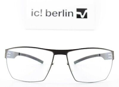 Ic! Berlin Glasses Model Markus WITH Graphite Black WITH Moser Clear Flex + Case • 285.21£