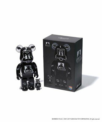 $249.99 • Buy D Face X-Large 400%100% Bearbrick Medicom Be@rbrick Black 2019 DCon Rare Limited