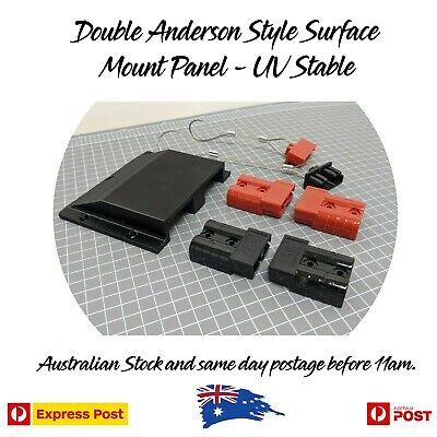 AU49.97 • Buy Double Twin Anderson Plug Surface Mount Panel Kit External Inc Bolts, Dust Caps