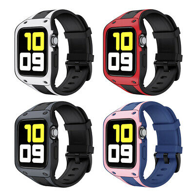 $ CDN21.15 • Buy For Apple Watch Series 2 3 4 5 6 Tough Armor Soft Protect Case Band Strap Cover