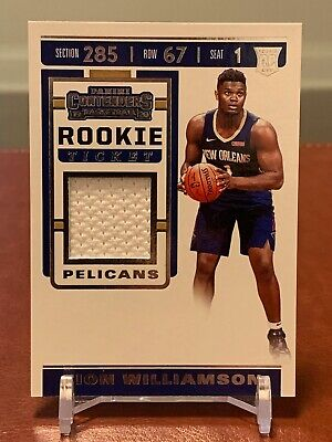 $89.95 • Buy 2019-20 Zion Williamson Panini Contenders Rookie Ticket Swatches (rookie Jersey)