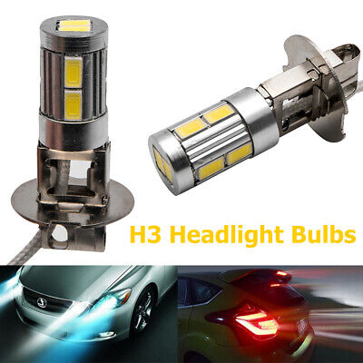 AU15.15 • Buy Pair H3 LED Fog Light Bulbs Replace Lamp 3000k Yellow 10W High Power Warranty