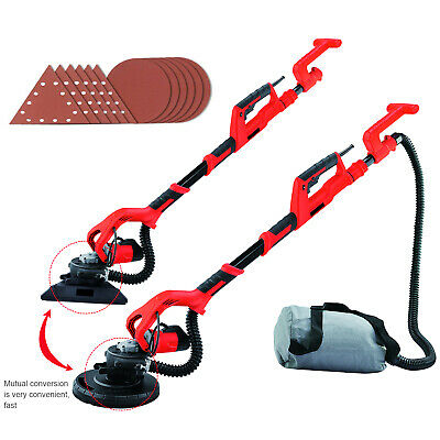 Upgraded Telescopic Drywall Sander Wall 1000W 2in1 Dust Free Plaster Sanding • 139.90£