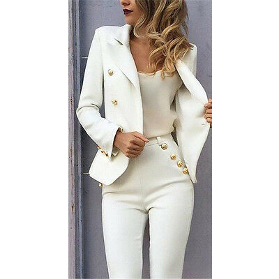 Ladies Dress And Jacket Suits Formal Business Wear For Women Female Trouser Suit • 69.99£