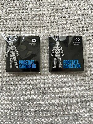 2x MEN UNITED PROSTATE CANCER UK Pin Badges £4.99 **OFFICIAL PCUK FUNDRAISERS* • 4.99£