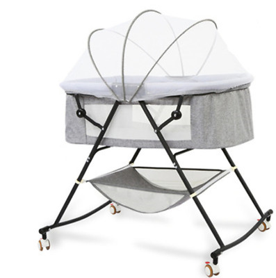Baby Cot Crib Bed Foldable Bedside Multifunctional Cosy Time Cradle Bed Portable • 59.40£