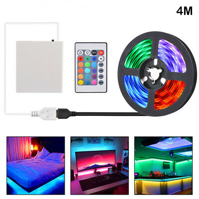 $19.99 • Buy LED Strip USB+Battery Powered TV Decking Kitchen Flexible RGB Light 4m LD2056