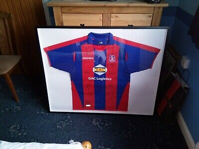 Signed And Framed Crystal Palace Shirt Unsure Of Date 2007ish  • 50£