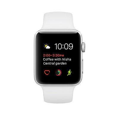 $ CDN235.39 • Buy New Apple Watch Series 1 38mm Silver Aluminum White Sport Band - (MNNG2LL/A)