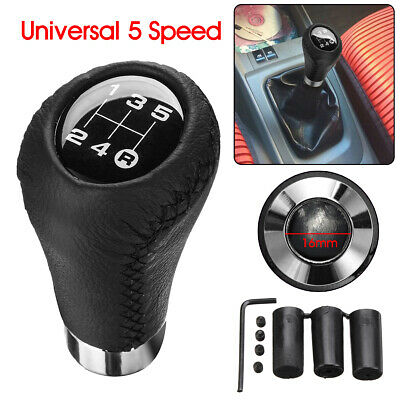 AU16.59 • Buy Leather 5 Speed Black Red Manual Gear Stick Shift Knob Shifter Lever Universal