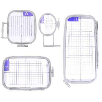 4pc/set Embroidery Hoop Set For Brother Sewing Machines PE700 PE750 750D 780D PE • 11.53£