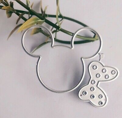 AU10.28 • Buy Mickey Mouse Cutting Die For Sizzix Spellbinders Ect Machines Cards, Bows,