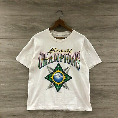 £15.27 • Buy Vintage 1994 Brazil World Cup Champs Soccer Football Fifa 90s T-Shirt Size Small