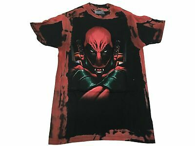 £8.50 • Buy Marvel Men's T Shirt Deadpool Weapons Clinched Comic Book Acid Washed