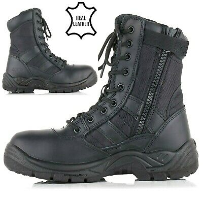 $36.08 • Buy Mens Tactical Safety Steel Toe Cap Work Security Military Combat Shoe Boots Size
