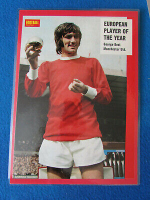 George Best - Manchester United - 1969 - Mounted Laminated A4 Picture • 9.99£