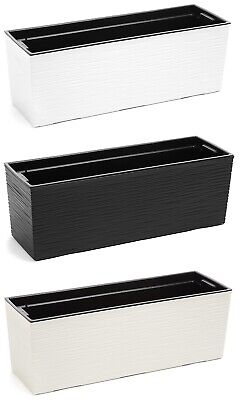 Chisel Trough Plant Pot Long Plastic Planter Home Garden Window Herb Flower Box • 18.99£