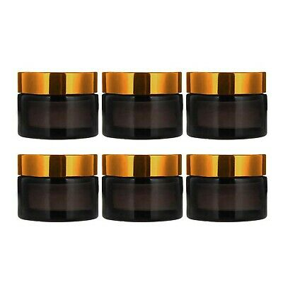 INHEMI 30ml Cosmetic Glass Jars With Gold Lids,Empty Amber Glass Jars For Fac... • 14.92£