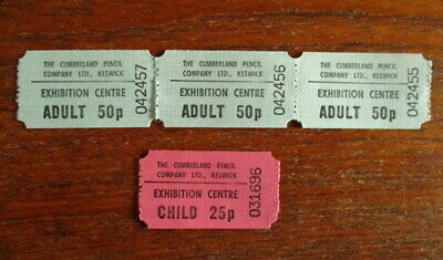 Admission Tickets To The Cumberland Pencil Museum Keswick 1983  • 1.50£